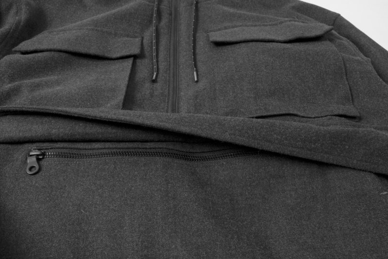 TTCL WOOL ANORAK BLACK
