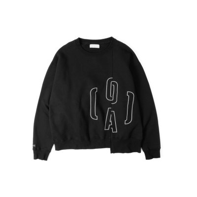 O(A) LOGO SWEAT BLACK