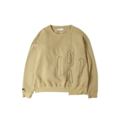 O(A) LOGO SWEAT BROWN
