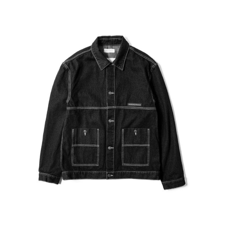 """""""FREE WILL"""" denim Jacket BLACK"""