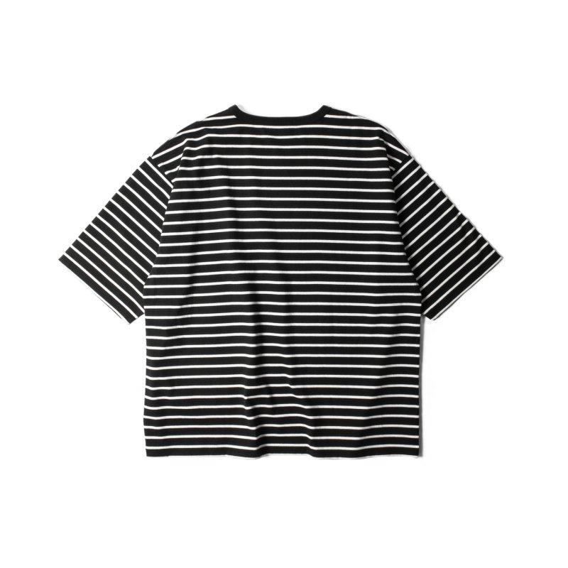 """NU:STANDARD"" Border Big T-Shirt BLACK"