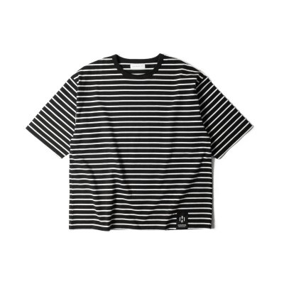 """NU:STANDARD"" Border Big T-Shirt BLACK"