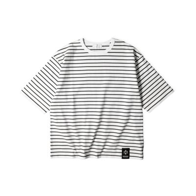 """NU:STANDARD"" Border Big T-Shirt WHITE"
