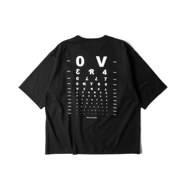 """VISION"" Print Big T-Shirt BLACK"