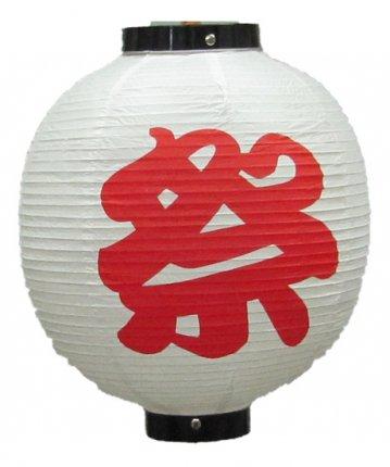 丸形提灯(ビニール)尺丸(φ28×32cm)