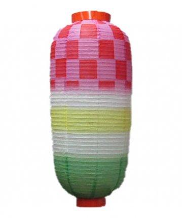 特殊型提灯(和紙)九長市松(φ24×51cm)