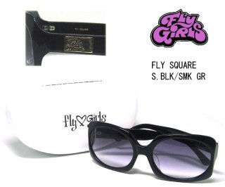 FLYGIRLS フライガールズ サングラス FLY SQUARE S.BLK SMK GR スモーク
