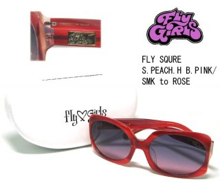 FLY GIRLS(フライガールズ) サングラス FLY SQUARE S.PEACH.H B.PI