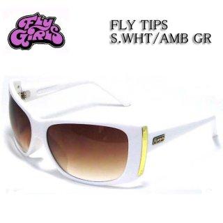 FLY GIRLS(フライガールズ) サングラス FLY TIPS S.WHT AMB G