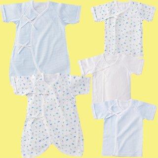 新生児肌着5枚組 くるま柄 P6001【出産祝い】