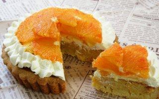 【季節限定】ブラッドオレンジ生タルト 大サイズ 直径18cm(工房受け取りのみ、配送不可)