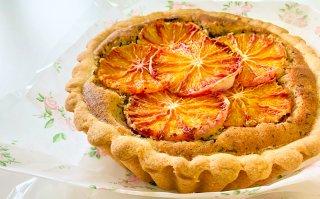 【季節限定】ブラッドオレンジ焼きタルト 大サイズ 直径18cm(配送のみ、工房受け取り不可)