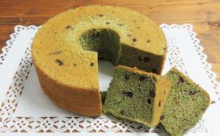 【季節限定】よもぎとあずきのシフォンケーキ 大サイズ 直径20cm