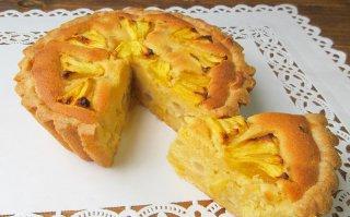 【季節限定】スナックパインとタピオカの焼タルト 小サイズ 直径15cm(タルト深型)