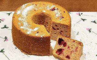 【8月限定】ラズベリーのシフォンケーキ 大サイズ 直径20cm