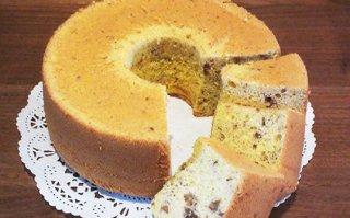 【2月限定】クルミとへーゼルナッツのシフォンケーキ 小サイズ 直径14cm
