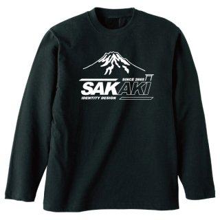 SAKAKIロゴ長袖Tシャツ-富士山ver.-