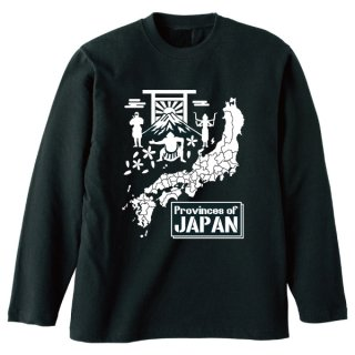 日本地図長袖Tシャツ