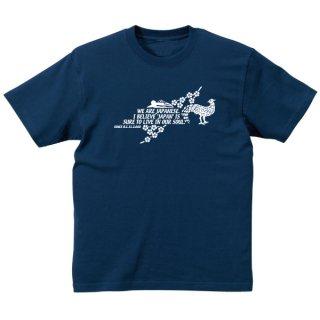 キジと桜 Tシャツ