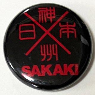 神州日本 (黒) 缶バッチ