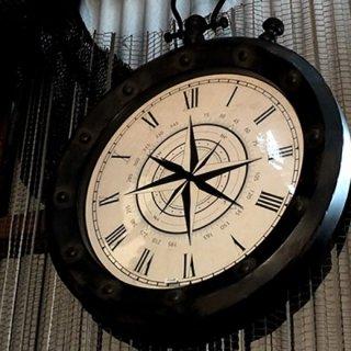 【同梱不可】アンティークスタイル ウォールクロックL Antique Style Wall Clock