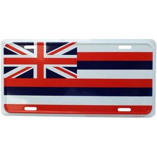 ハワイアンフラッグ(州国旗)ライセンスメタルプレート Hawaiian Flag
