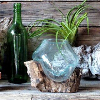 流木ガラス アクアリウム/ガラスオブジェSサイズ-C