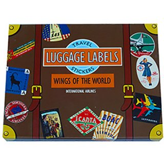 トラベルステッカー Luggage Labels WINGS OF THE WORLD