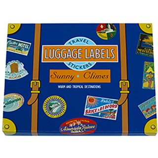 トラベルステッカー Luggage Labels Sunny Climes