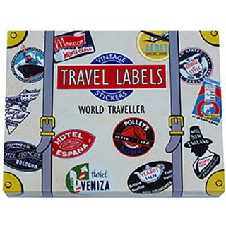 トラベルステッカー Luggage Labels WORLD TRAVELLER