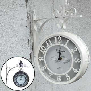 壁掛け両面時計L OLD STREET BOTHSIDE CLOCK NHE801L