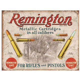 レミントン ティンサイン Remington UMC for Rifles & Pistols Tin Sign