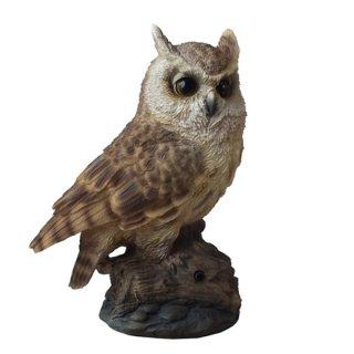 ワシミミズクスタチュー(像)サウンドセンサー付フィギュア Eagle Owl Statue with Sound