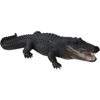 【同梱不可】ラージアリゲーター(ワニ)フィギュア Wildlife Large Alligator Figurine
