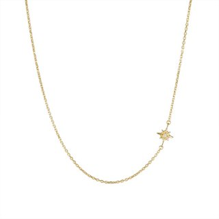18K YG ダイヤモンド プリマステラデザインネックレス