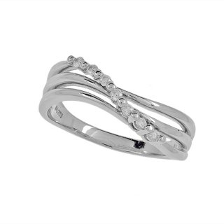 PT900 ダイヤモンド ウェーブリング