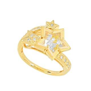 [トゥインクル] 18K YG ダイヤモンドリング