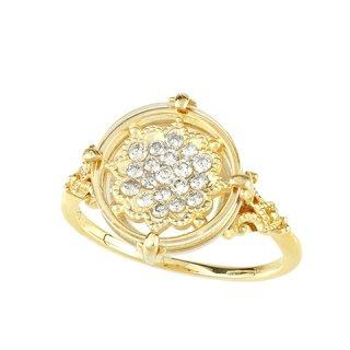 [ダイヤモンドフラワー] 18K YG ダイヤモンドデザインリング