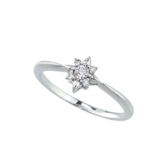 18K WG トゥインクルスターヴィーナスアローダイヤモンドリング