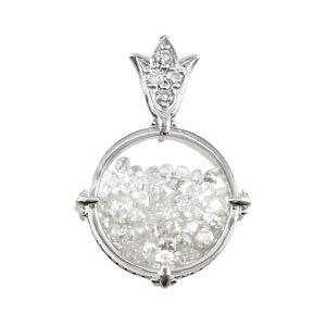 [ディアマン オーシャン] 18K WG ダイヤモンド ペンダントヘッド