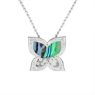 [オーシャンバタフライ] 18K WG ダイヤモンドデザインペンダントヘッド