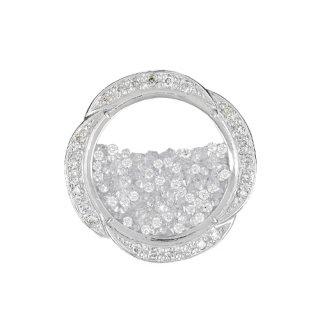 [ディアマンテロンド] 18K WG ダイヤモンドペンダントヘッド