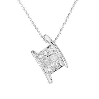 18K WG ラフダイヤモンド カーブレクタングルPDヘッド