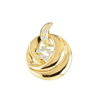 18K YG ゴールドミラー ダイヤモンドペンダントヘッド