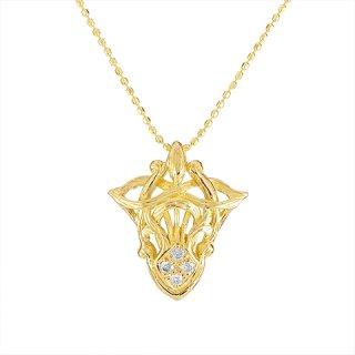 18K YG ダイヤモンドデザインペンダントヘッド