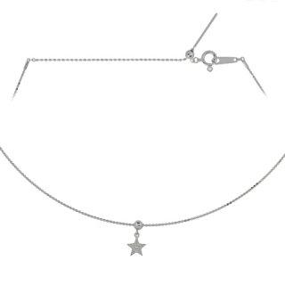 18K WG スターデザイン オメガネックレス