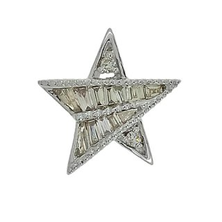 18K WG シャンパンダイヤモンド スターペンダントヘッド