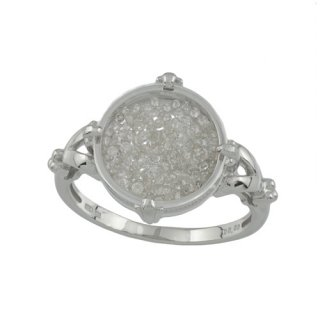 18KWG シャンパンカラーダイヤモンド リング 計0.5ctUP