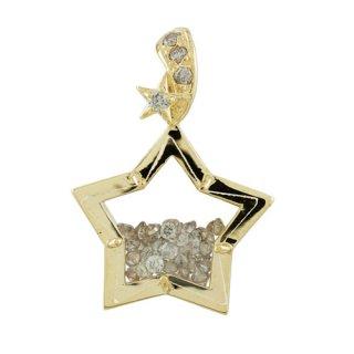 18K YG ダイヤモンド トゥインクルペンダントヘッド 計0.3ctUP