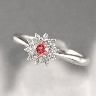 PT900 アミアージュ シンセティックピンクダイヤモンド リング